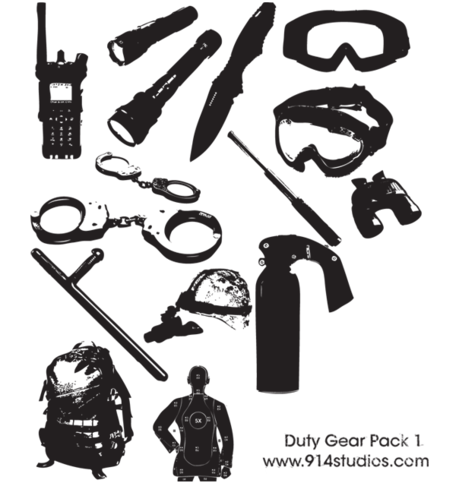 Gear Vector Police Duty Gear Pack