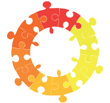 Puzzle circle. Free clipart and vector