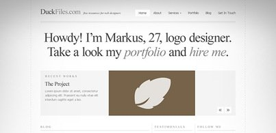 A typography perfect website template (Free PSD)