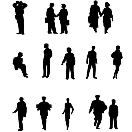 PEOPLE VECTOR SILHOUETTES.ai