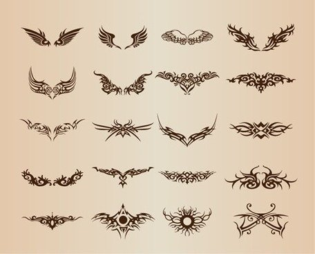 Set de tatouage éléments Vector