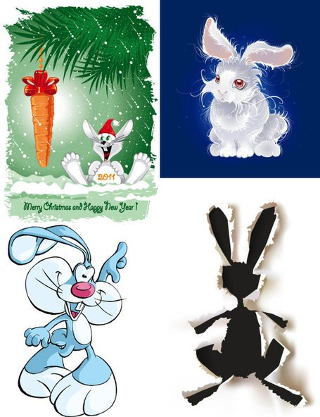 Cute cartoon rabbit image