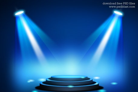Free Stage Lighting Background mit Spot-Licht-Effekte (PSD) Clipart ...