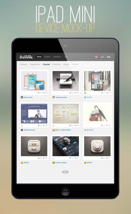 iPad Mini Mock-up mall