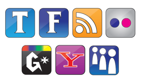 Free Vector Set of Social Icons