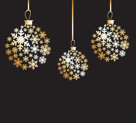 Free Golden Christmas Balls Vector Graphics (Free)