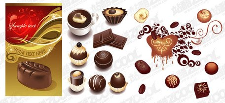 A variety of chocolate