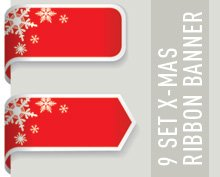 9 Christmas Ribbon Banner