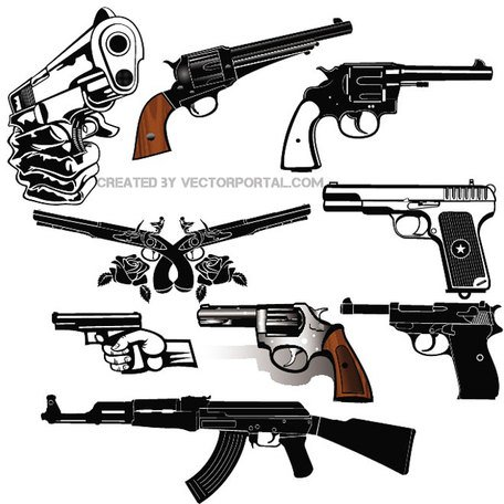 GUNS FREE VECTOR SET.eps