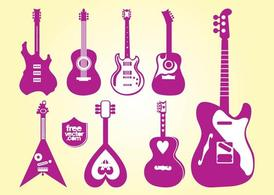 Vectores de guitarras