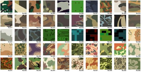 Vector Camouflage Shading Series