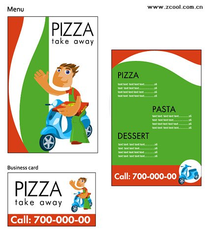 Pizza Store the image of a simple template