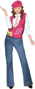 Jeans Girl Vector 9