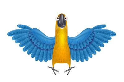 Funky Parrot with Detailed Wings