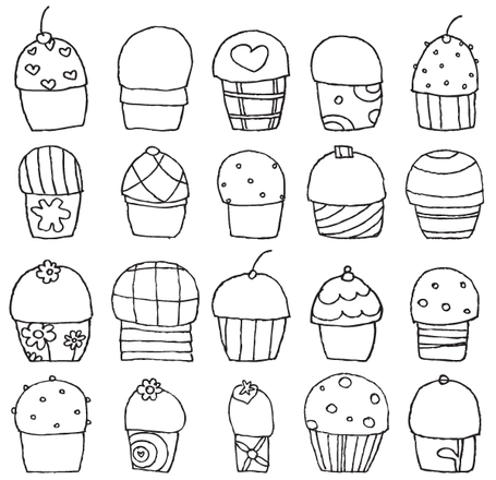 Freehand Cupcakes
