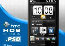 Смартфон HTC HD2.PSD