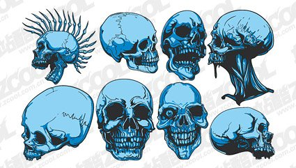 The tide of terror Skull Theme T-shirt design Vector materia