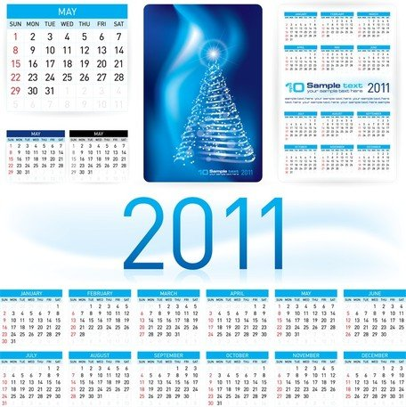 Beautiful 2011 Calendar Template 03