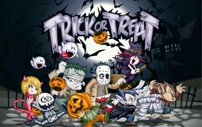 Trick or Treat Halloween arte