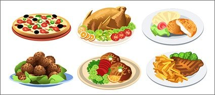 Western-style food, free vector - Clipart.me