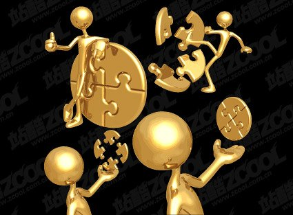3D Golden schurk