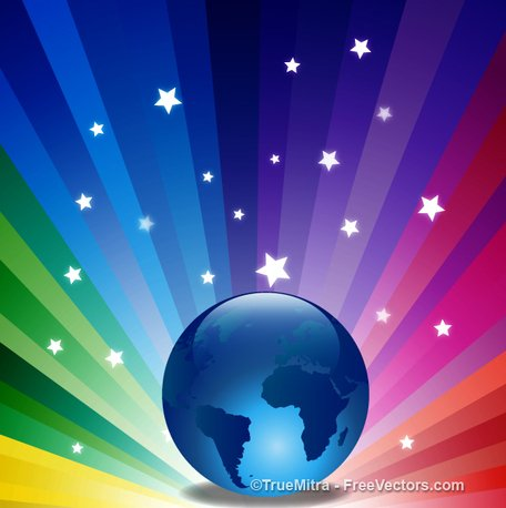 Magical Earth Background
