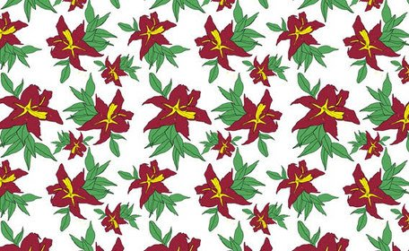 Free seamless flower pattern