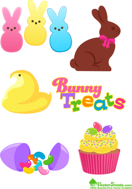 Free Vector Treat Graphics From the Easter Bunny