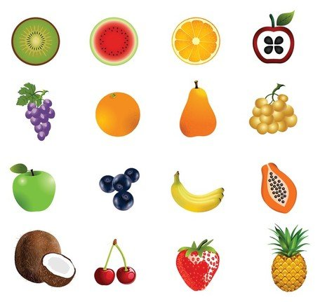 Fruit pictogrammenset