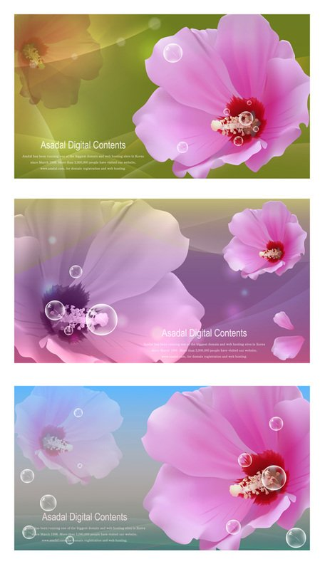 Vector flower bubble material