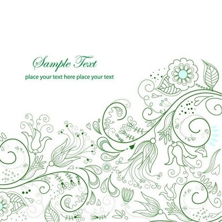 Spring Green Floral Background