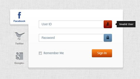 Login Web Page Template