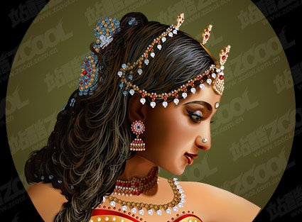 Standard Indian Realism style beauty