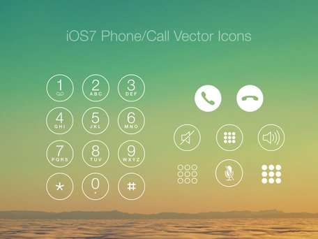 iOS7 telefonema/Vector Icons
