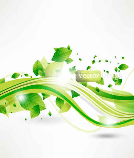 Gree Leaves abstract background