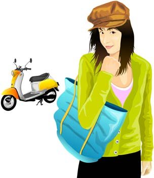 Motorcycle girl 5