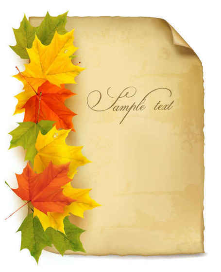 Paper Maple Leaf Background