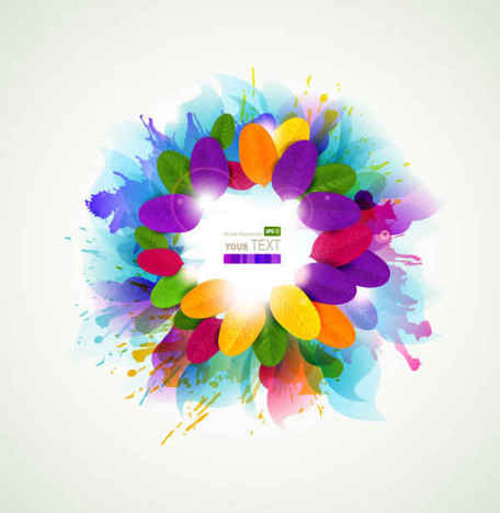 splash colorful flowers background