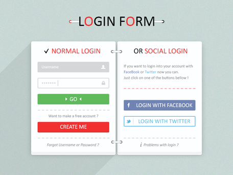 Login Form #Freebies