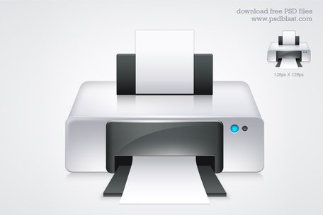 Printer icon (PSD), free vector - Clipart.me
