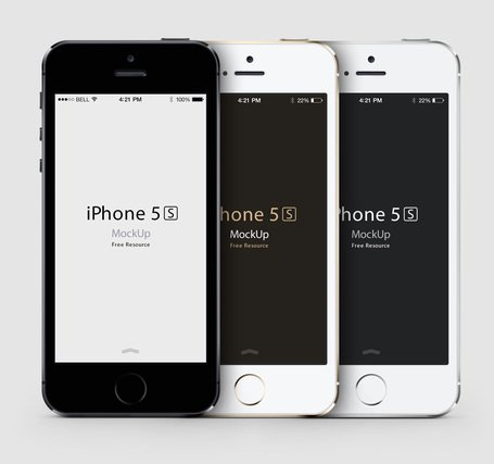 iPhone 5S Psd vektor Mockup