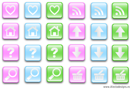 Free Glass Effect Buttons Vectors