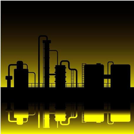 OIL REFINERY VECTOR GRAPHICS.eps, Vector File - Clipart.me