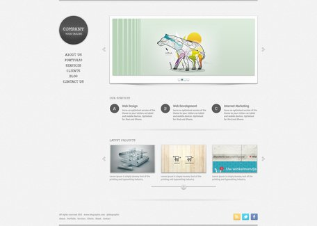 Free Portfolio Website PSD Template