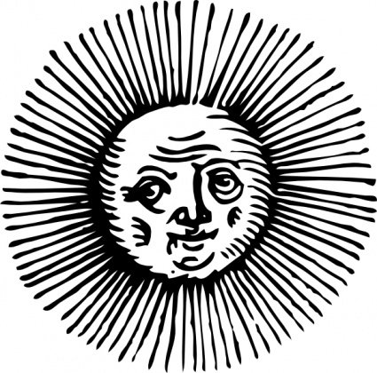 Old Sun, vector graphics - Clipart.me