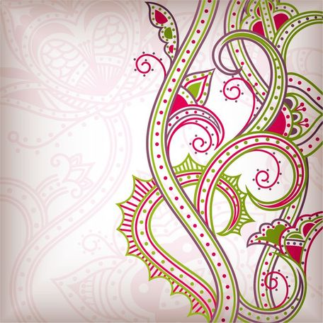 abstract floral pattern background 02