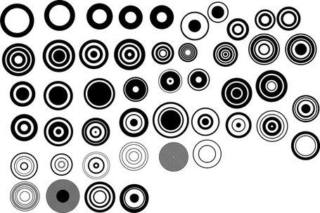 Noir et blanc Design éléments Vector série 1 tour Simple