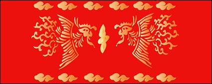 Chinese Classical Phoenix abstract pattern