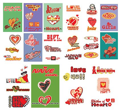 Materiale ragazza carina tendenza vector-amore