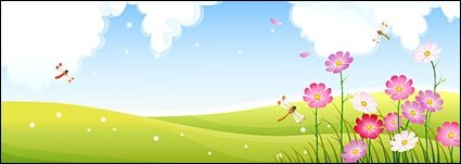 Free Dragonfly in Flower gardens Clipart and Vector ...